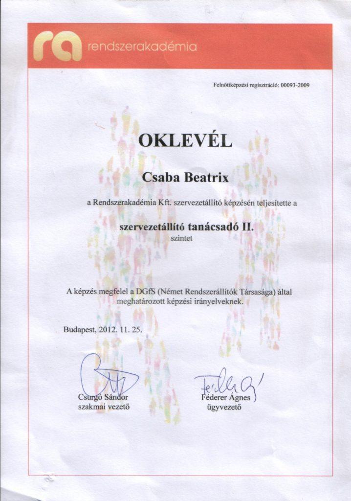 szervezetallito_oklevel